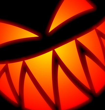 scary face: Halloween Scary Face su fondo nero