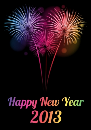 Colorful Happy new year 2013 card Vector