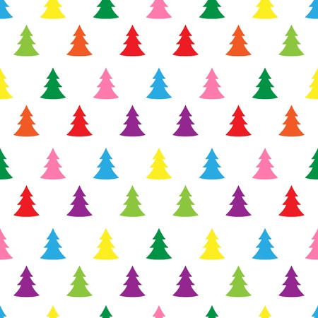 Seamless simple cute christmas tree illustration pattern Stock Vector - 15689577