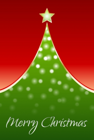 Christmas tree with wooden board Stock Vector - 15689587
