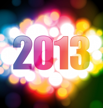 Colorful Happy new year 2013 card photo