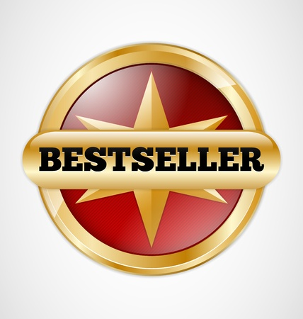 Gold and red Bestseller badge  Stock Vector - 17177266