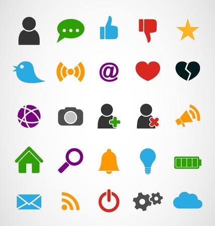 Common 25 Web Icons set Stock Vector - 17177178
