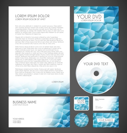Modern Crystal Graphic Business Layout Stock Vector - 17513191