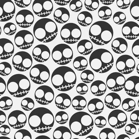 Funny Emo skull seamless pattern Stock Photo - 18429773