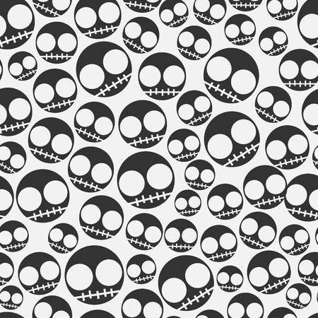 Funny Emo skull seamless pattern Stock Photo - 18429773