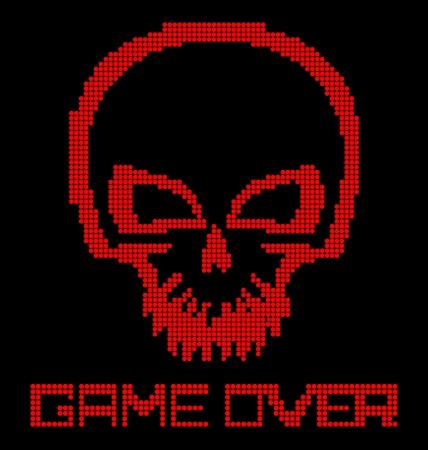 Digital skull virus on black background Stock Photo - 18516413