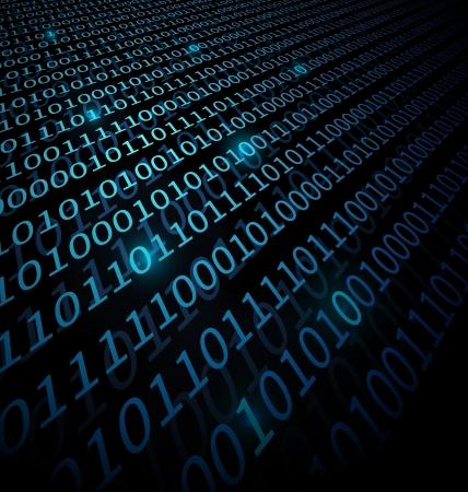Blue Binary Data technology background