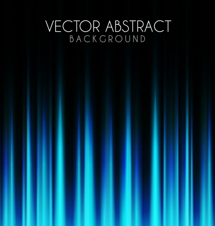 Blue lights on black abstract background Vector