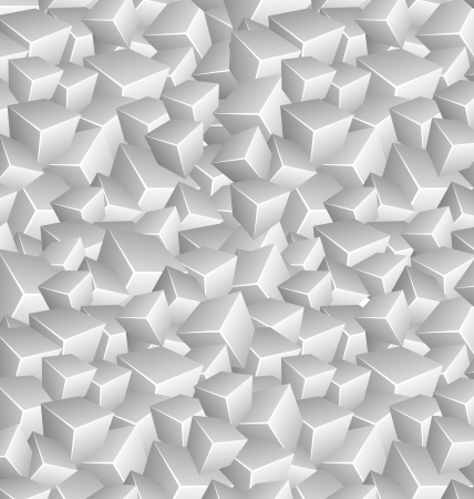 Background made of Grayscale Cubes Vector