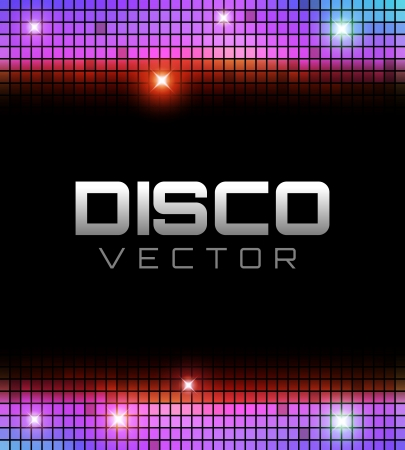 techno background: Colorful Disco Party Design with place for your text