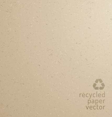papel reciclado: Recicle la textura de papel - cartón Vectores