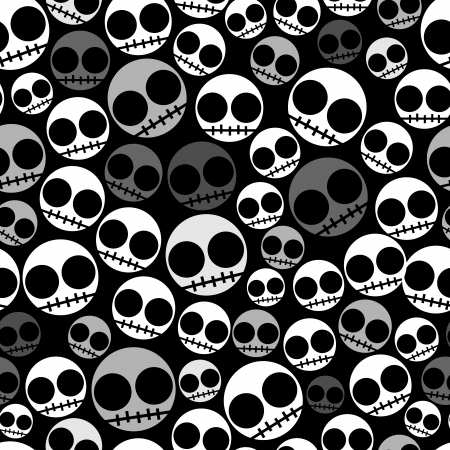 Funny Emo skull seamless pattern Stock Photo - 19071194