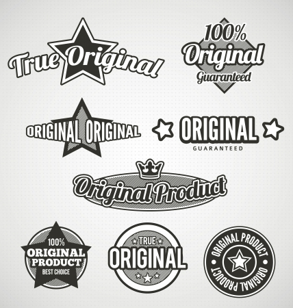 Original Labels Black and white - place on your product photo
