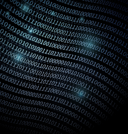 Blue Binary Data technology background Stock Photo - 19071199