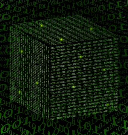 Green Binary Square Data technology background Stock Photo - 19071201