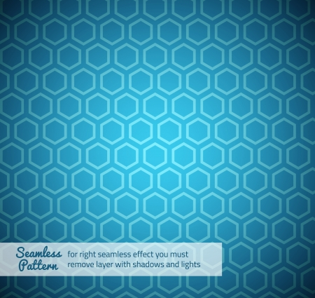 bue: B�ue Hexagon futuristic seamless pattern Illustration