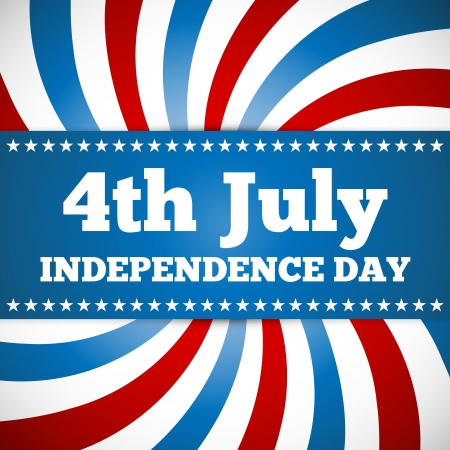 fourth of july: Independence day design with star button and swirl