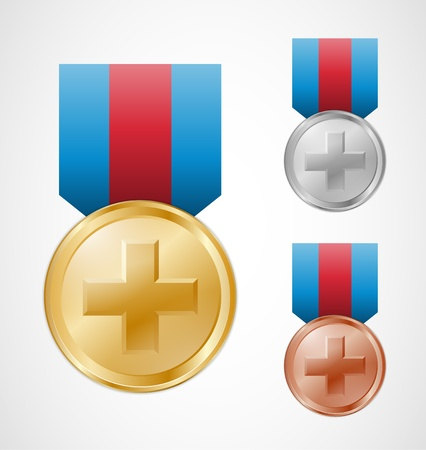 Medical prizes for best healthcare Vector
