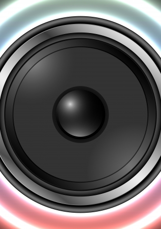 Speaker with abstract background with retro colors Vector