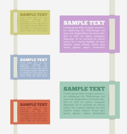Creative Infographic tags - simple and easy to understand