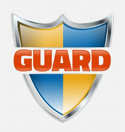 Guard solid shield means guarantted protection Stock Vector - 19820080