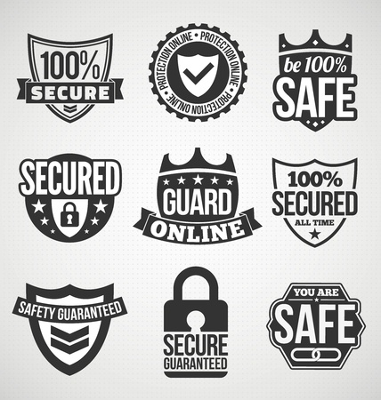 Security labels - black color Stock Vector - 19830241