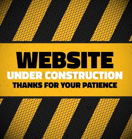 建設: あなたのテキストのための場所で建設中