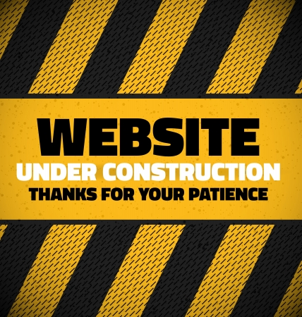 Under construction with place for your text Stock Vector - 19830246