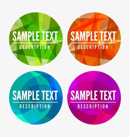 Abstract Colorful Modern Rounded labels with place for text Stock Vector - 20595410