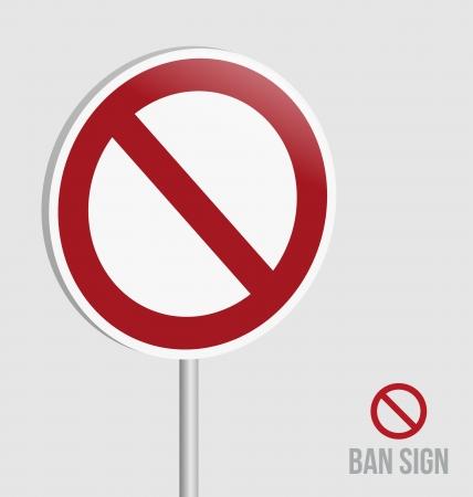 Ban Sign Stock Vector - 20595321