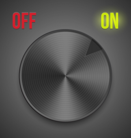 Button turned on online position Vector