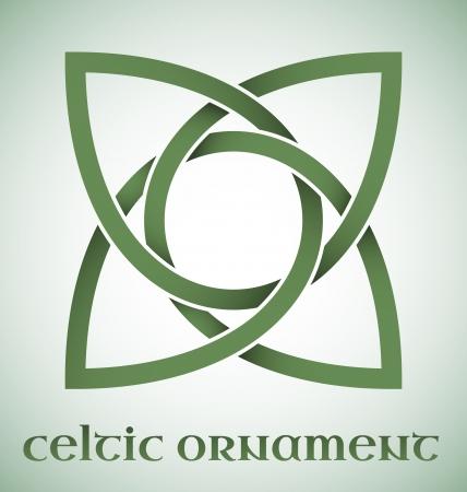 keltische muster: Gr?n Celtic Ornament mit Steigungen