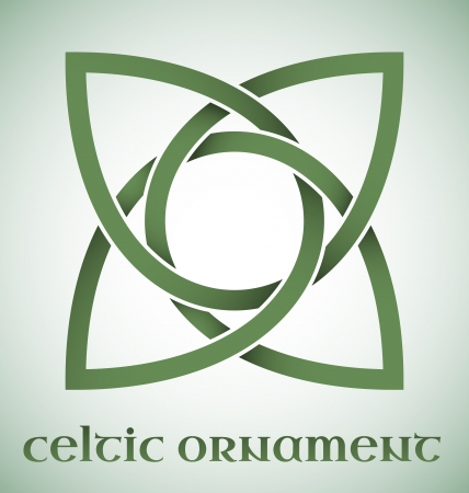 wiccan: Green Celtic ornament with gradients