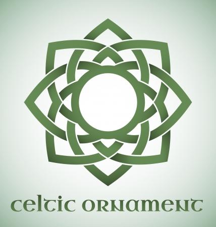 celtico: Verde ornamento celtica con pendenze