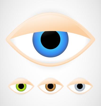 Set of eyes with eyelid 向量圖像