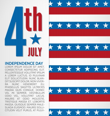 Independence day design with stars and stripes Vector