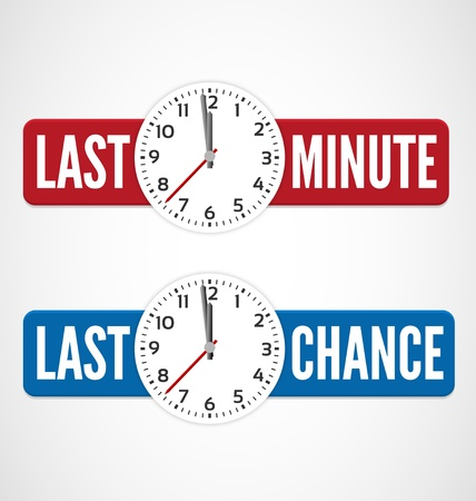 sales book: Last minute and last chance labels