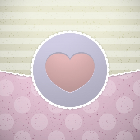 Love design - label with heart Stock Vector - 20595583