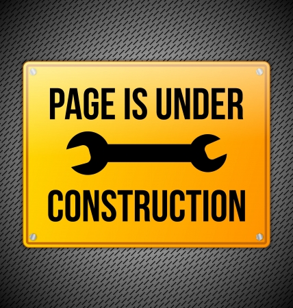 Under construction design with metal sign Stock Vector - 20595568