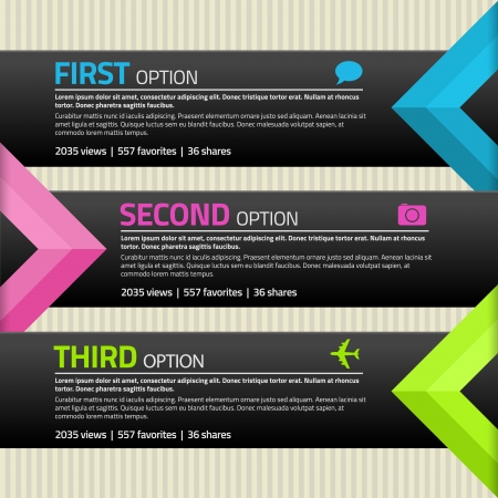 Infographics banners with place for text and icons Vector