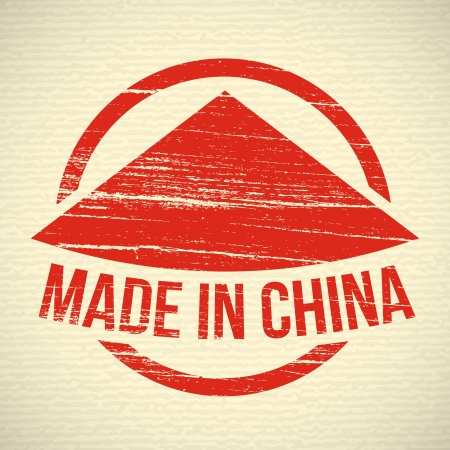 Red Made in china stamp Vector