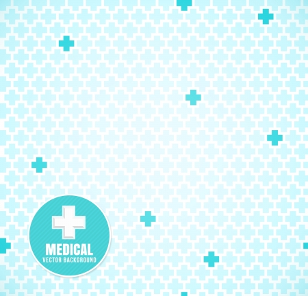 Soft Blue medical seamless pattern with crosses Vector