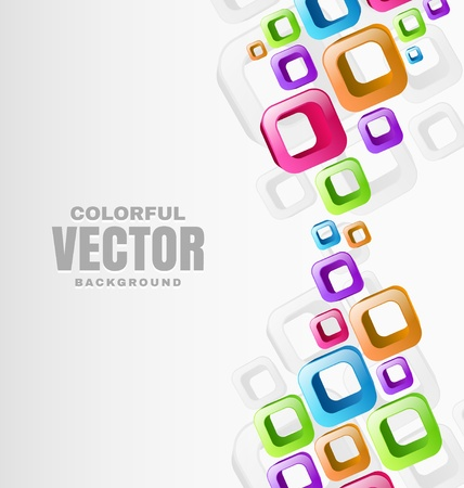 place for text: Colorful Abstract Shapes Background with place for text