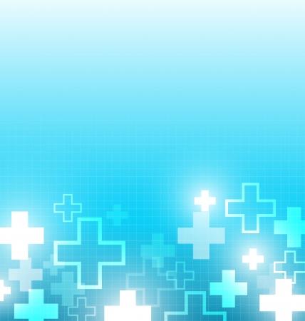 십자가와 블루 의학 디자인 일러스트