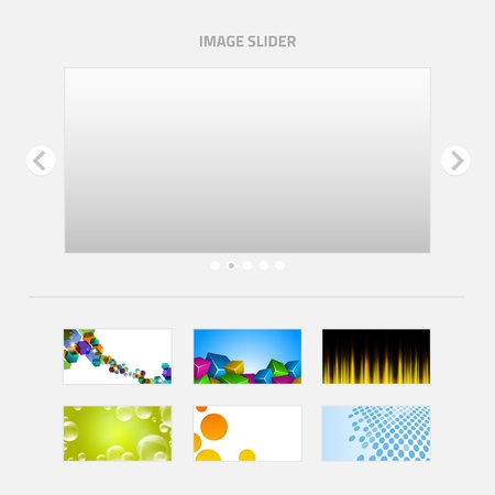 Image Slider with backgrounds set Stock Vector - 22069132