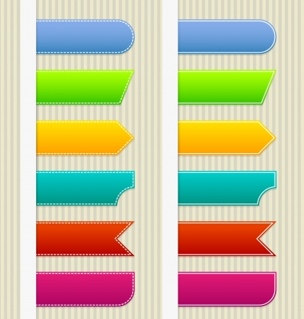 Paper bookmarks with place for text or icon Vector