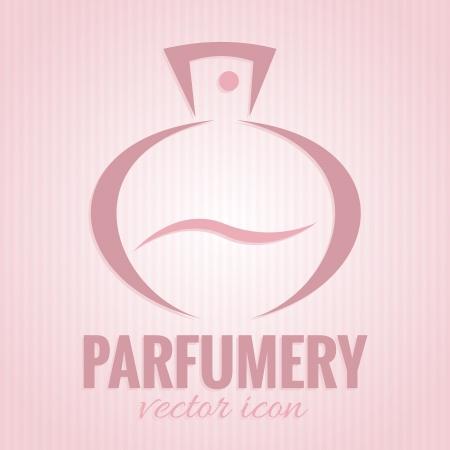 fragrance: Parfumerieën pictogram op roze achtergrond