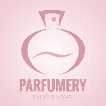 parfume: Parfumery icon on pink background