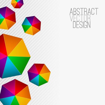 heptagon: Heptagon Modern abstract colorful background